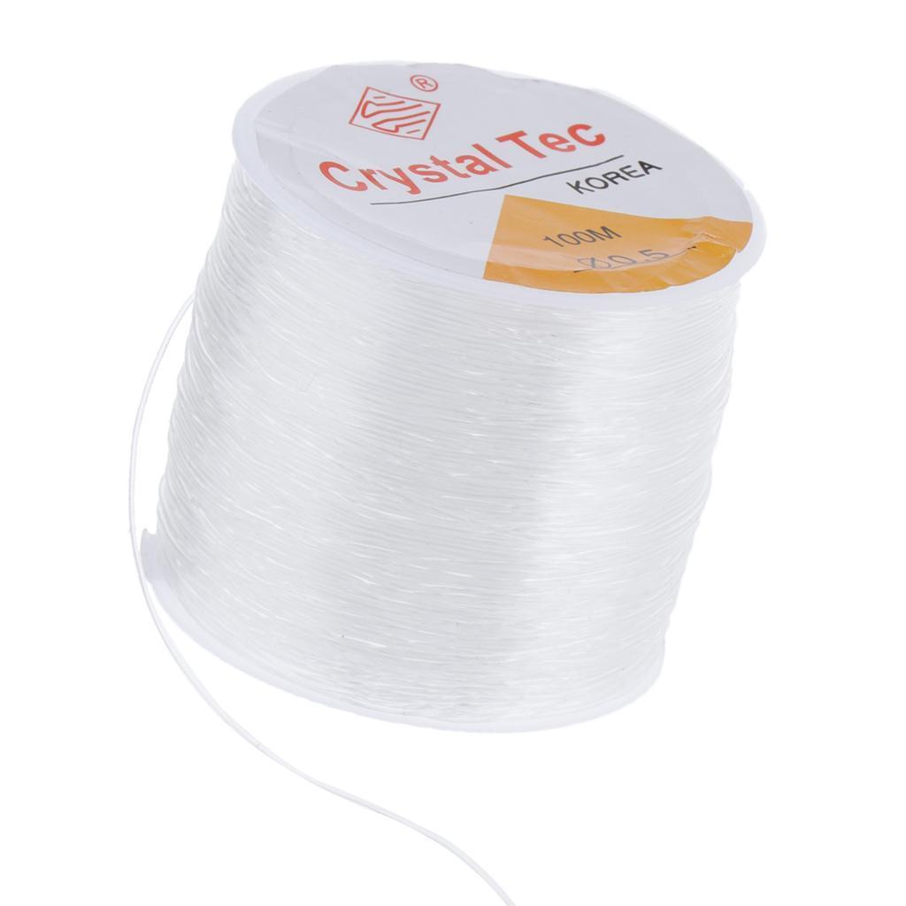 Rouleau De Fil Cordon élastique Elastic Thread 100m Pour Bracelets Colliers