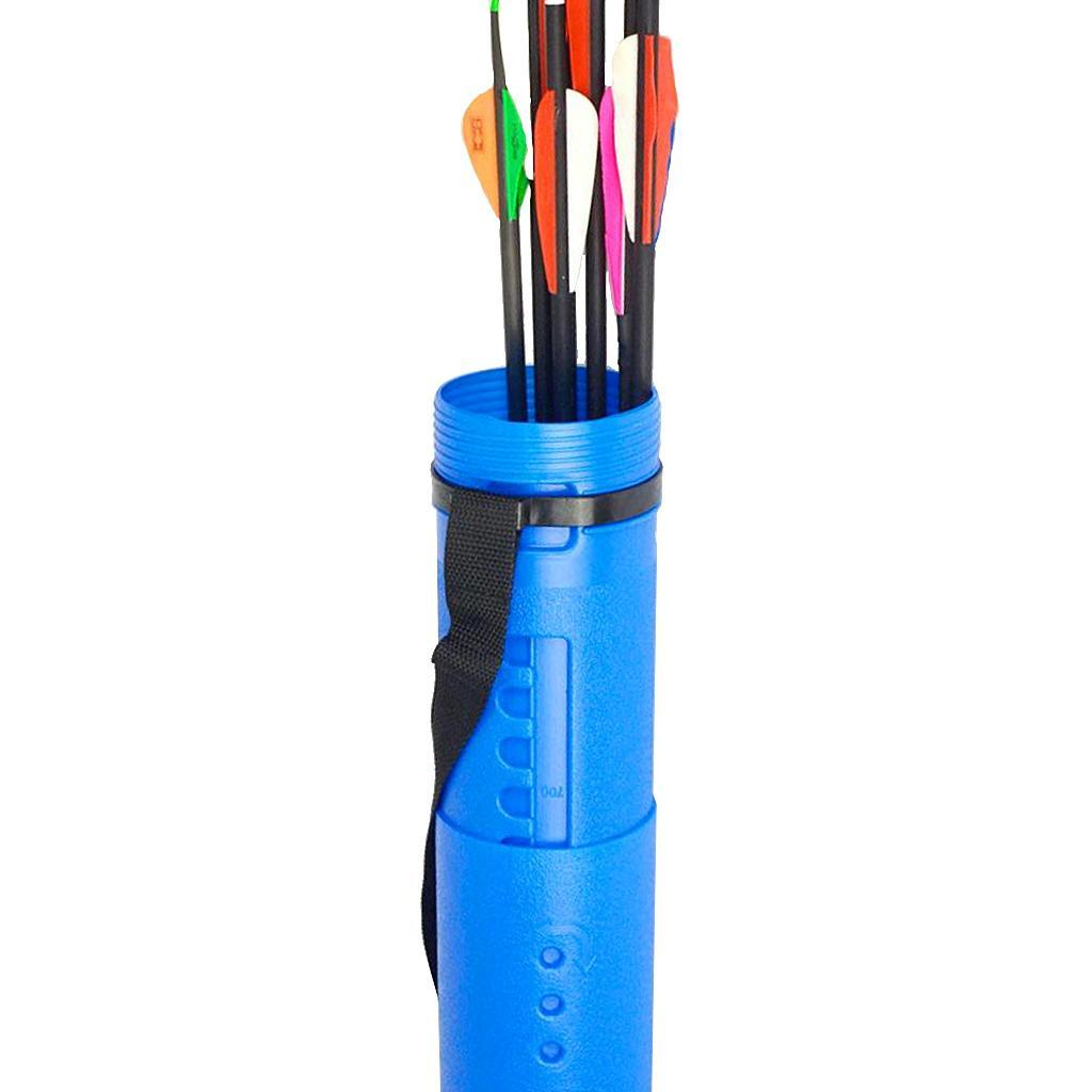 Adjustable Arrow Tube Quiver Shoulder Back Pipe Telescopic Drawing Holder Case
