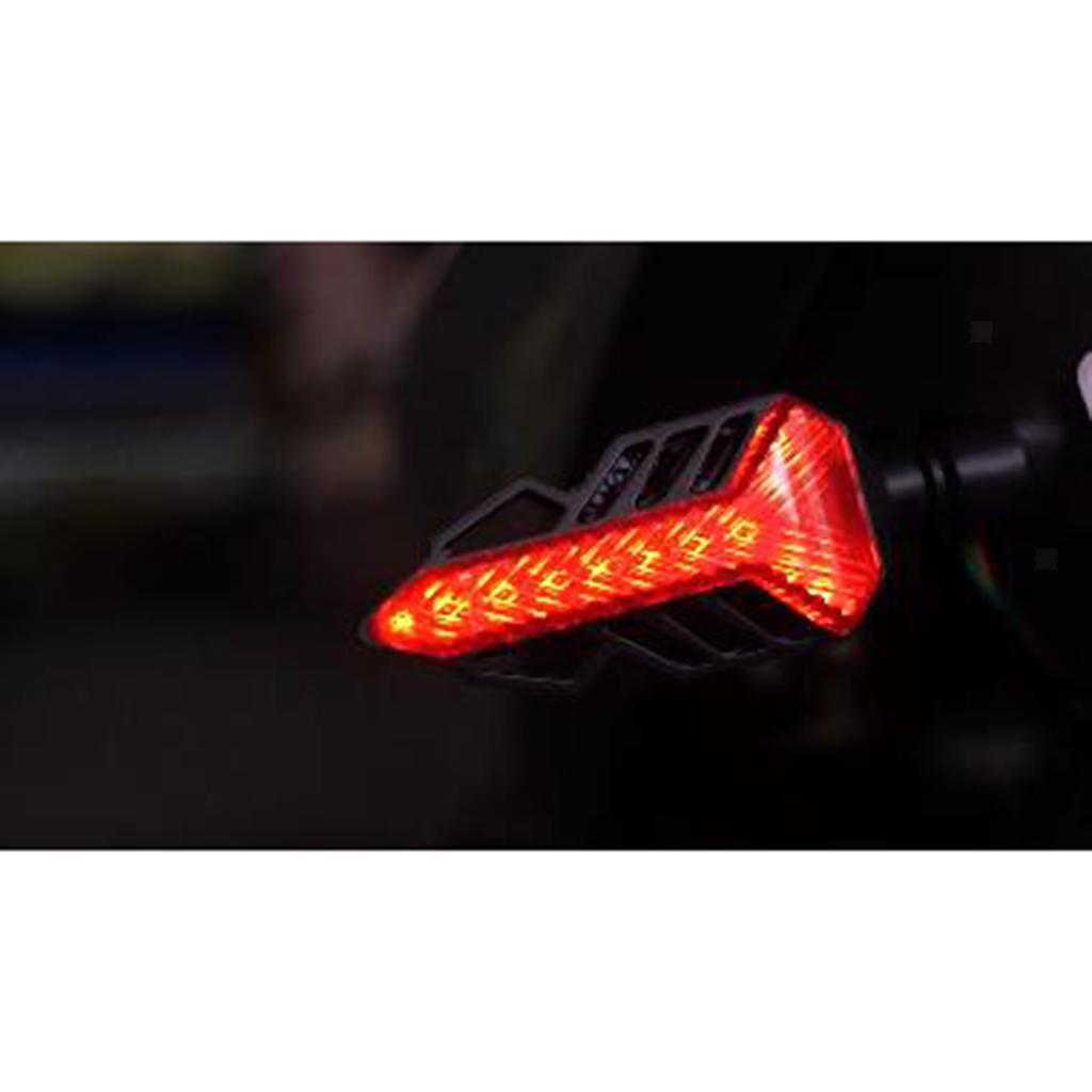LED Flowing Turn Signal Lights Indicators 12V LED Bulbs Fit for Motorcycle