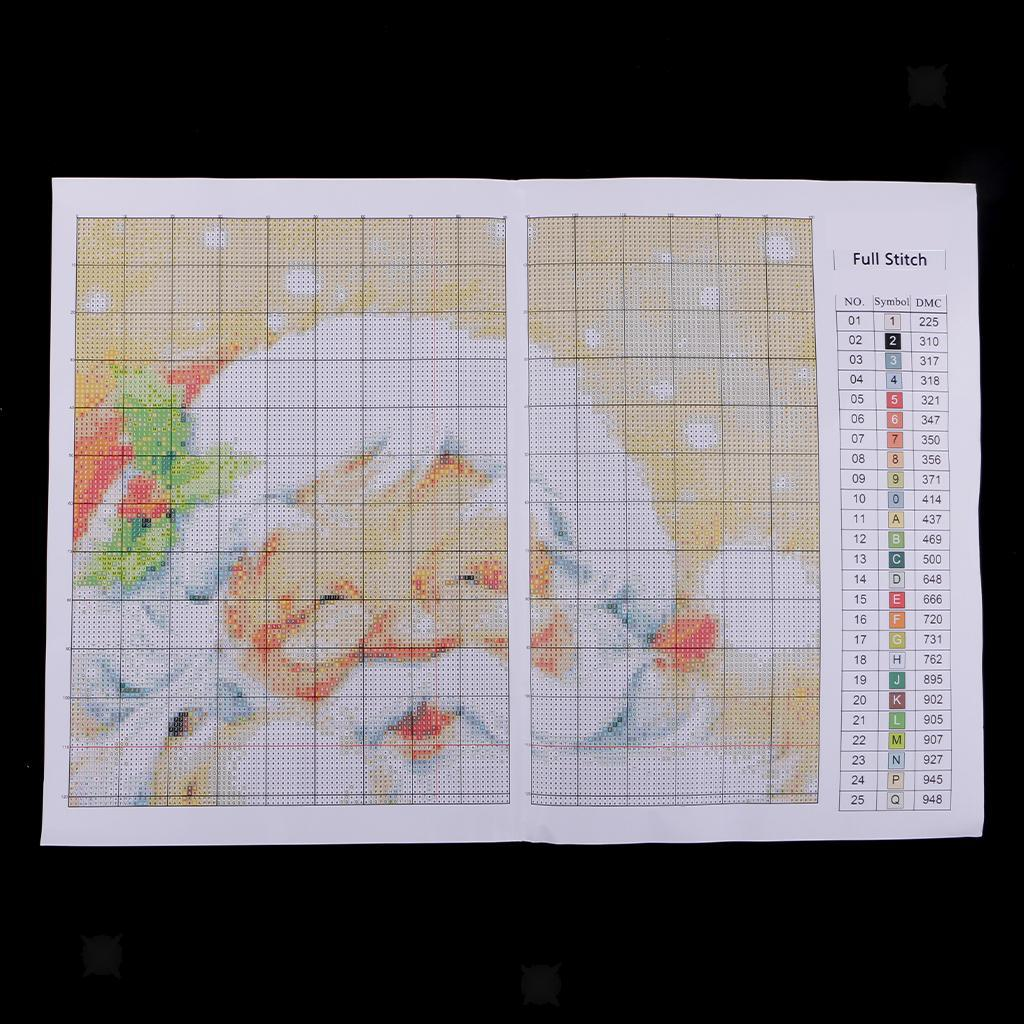 Santa Claus Pattern Stamped Cross Stitch Kits DIY Crafts for Christmas Gifts