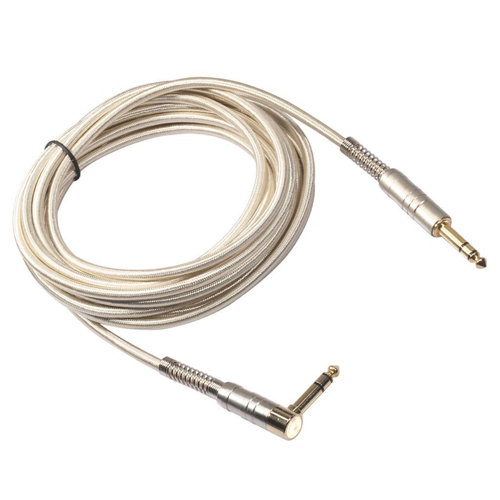 1 Piece 6,35 mm Stecker auf Stecker Stereo Audio Aux Kabel 90 Grad
