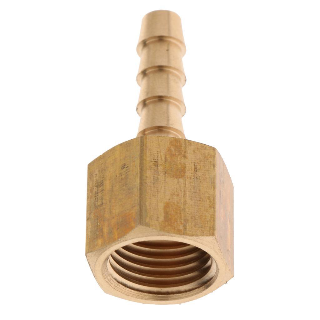 """Brass Female Barb Fitting Straight Coupler 1//8/""""BSP 1//4/""""BSP to 6mm 8mm Hose"""