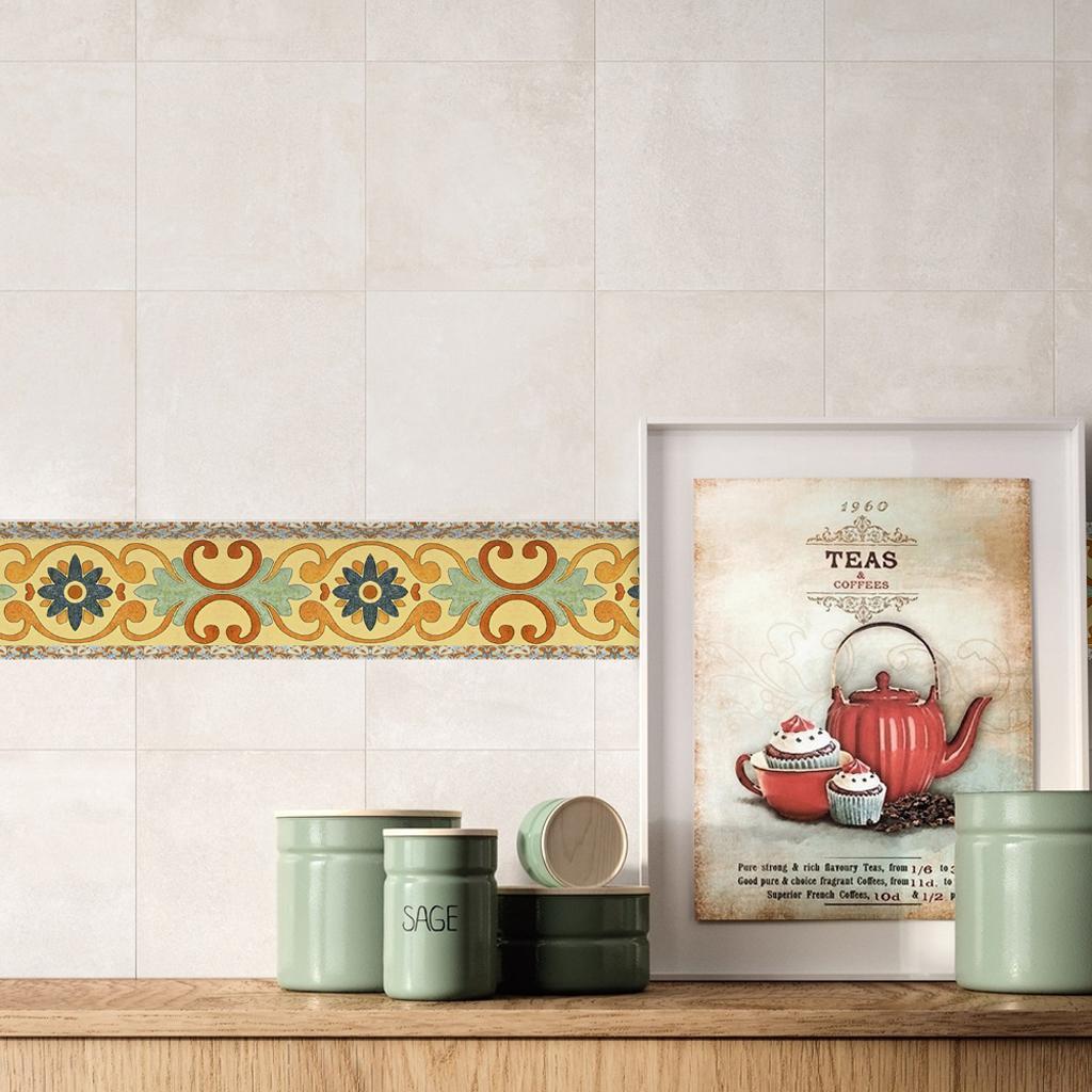 Retro Küche Bad Mosaik Fliesen Aufkleber Fliesenbild Rolle 10x500cm