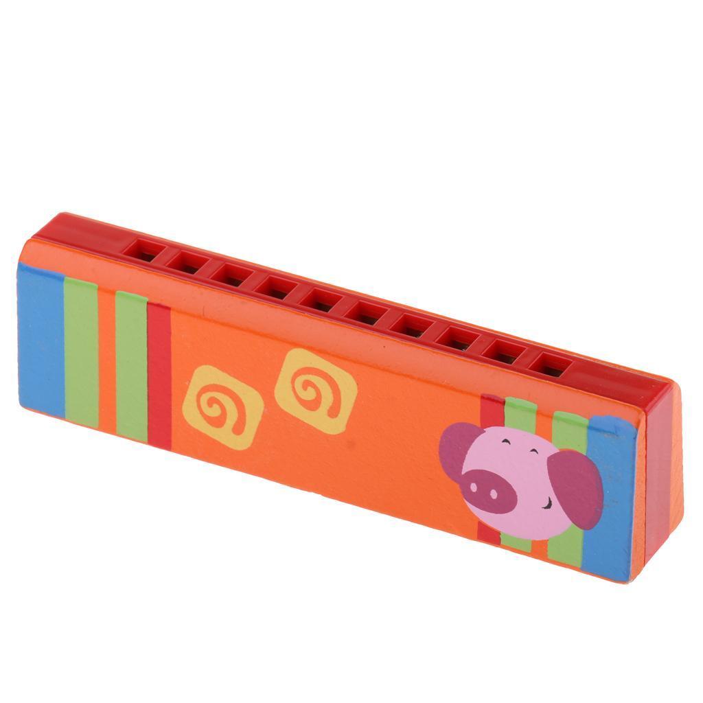 10Löcher Mundharmonika Kinder Musikinstrumente Blasinstrument Spielzeug Geschenk