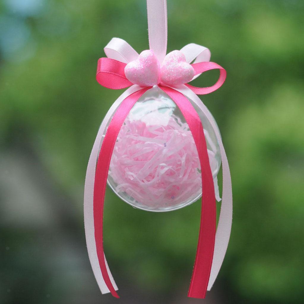 10 stücke klar kunststoff ball diy weihnachtsbaum hängen spielerei