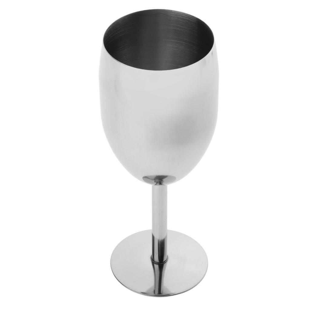 Stainless Steel Red Wine Glass Goblet Whiskey Red Wine Glasses Beer Cup Mug