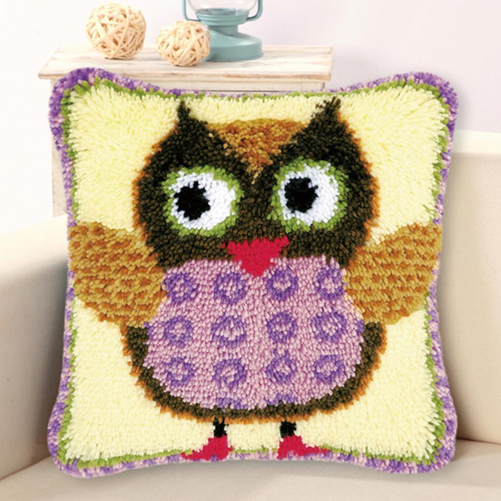 Animal Loquet Crochet Kits Avec Outils De Base Instruction for À faire soi-même Taie D/'oreiller Coussin