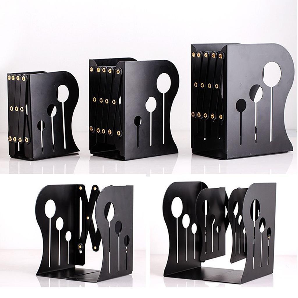 Adjustable Metal Bookends Heavy Duty Decorative Modern Design Book Rack