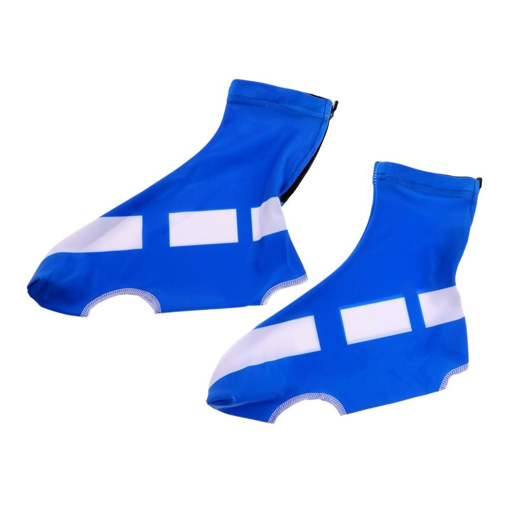Bike Cycling Shoe Covers Warm Wind Dust Proof Protector Overshoes Blue Black