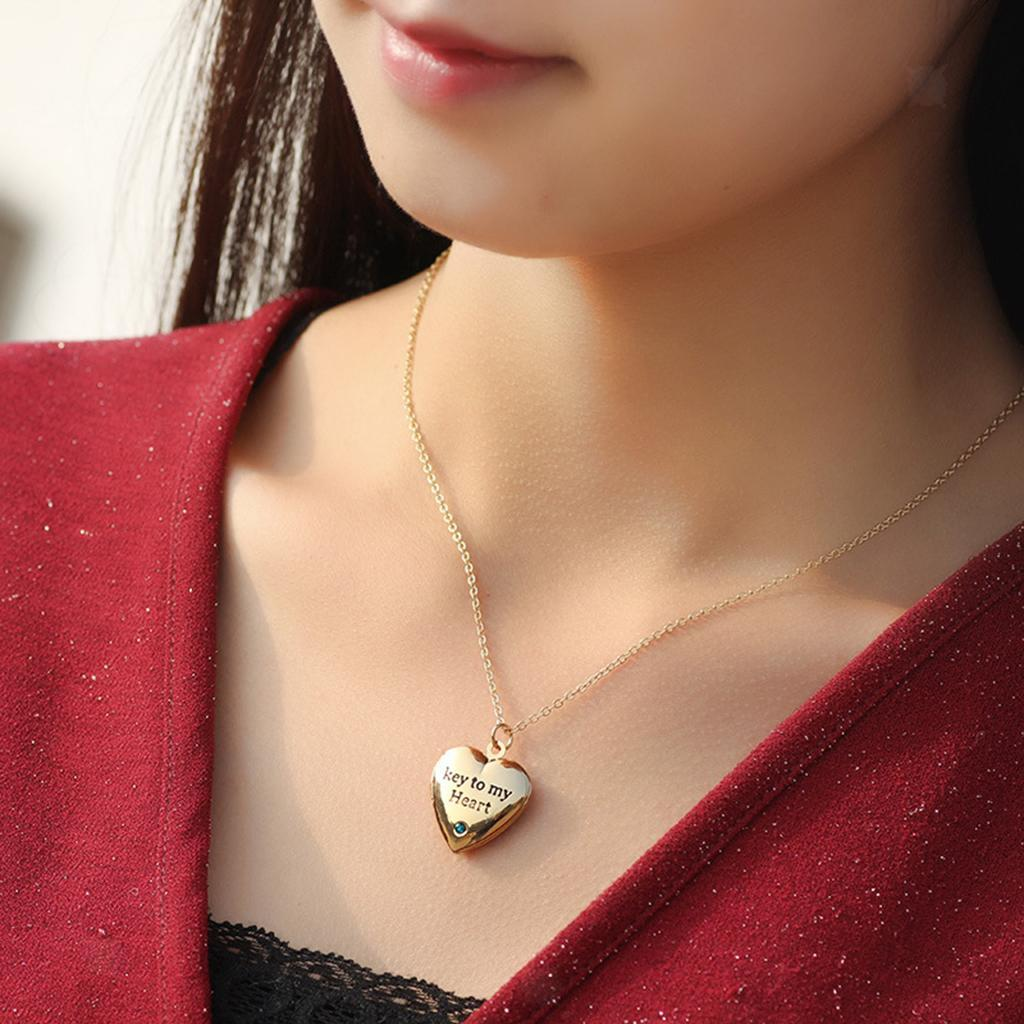 DIY Handmade Pendant Chain Necklace Photo Lockets Charm Necklace for Women