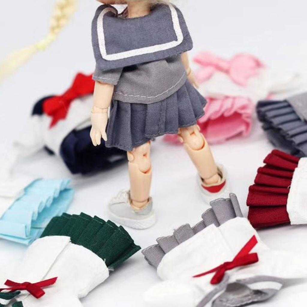 Doll Clothes Outfit School Uniform for Obitsu11 Doll Toys Costumes