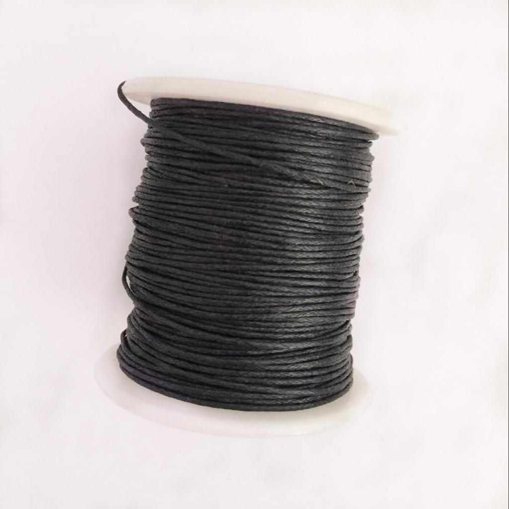 4 Rolls Braided Waxed Cotton Rope Cord Bracelet String Multi-purpose DIY Crafts