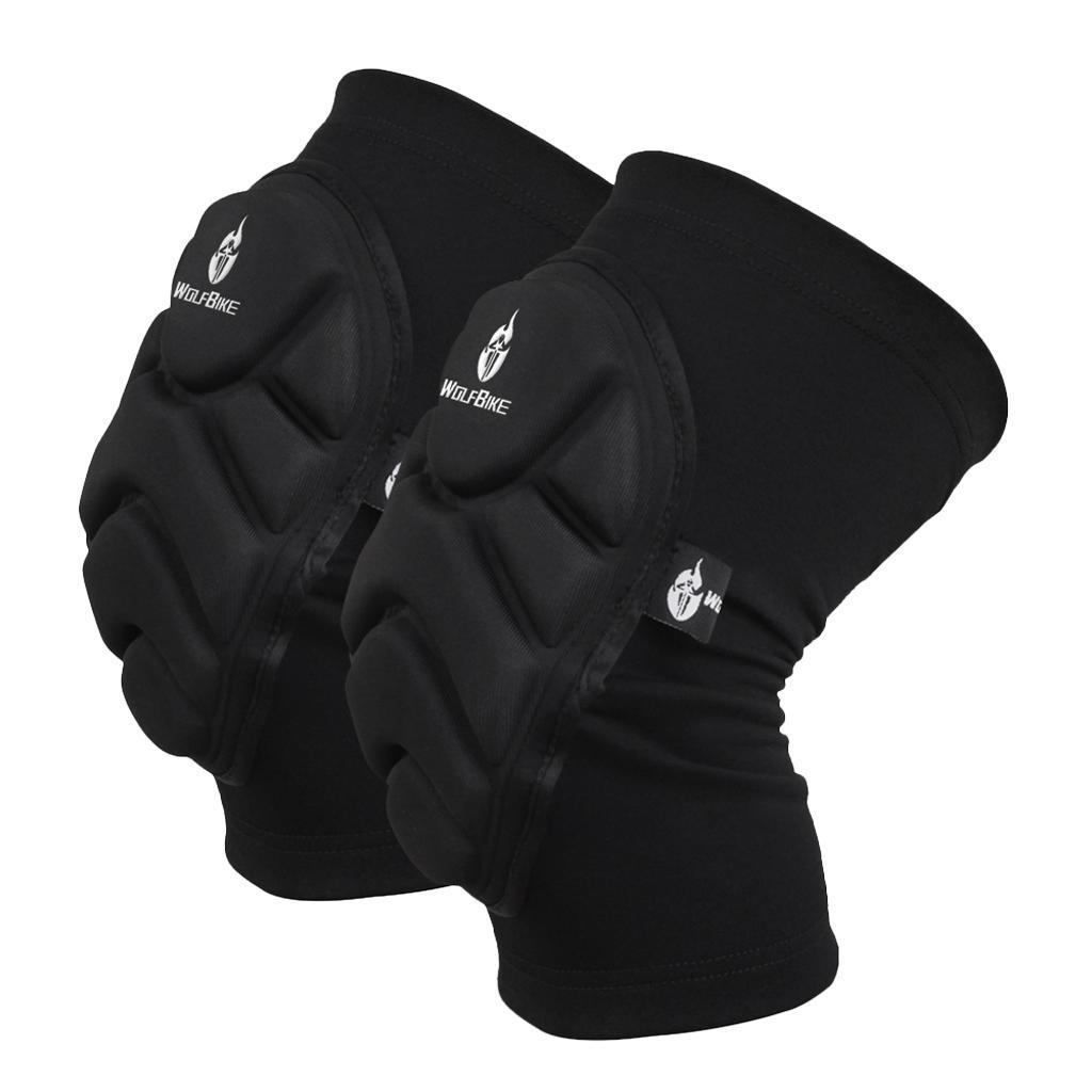 1 Pair Sports Knee Pads Brace Support Cycling Sponge Knee Protector Kneepad