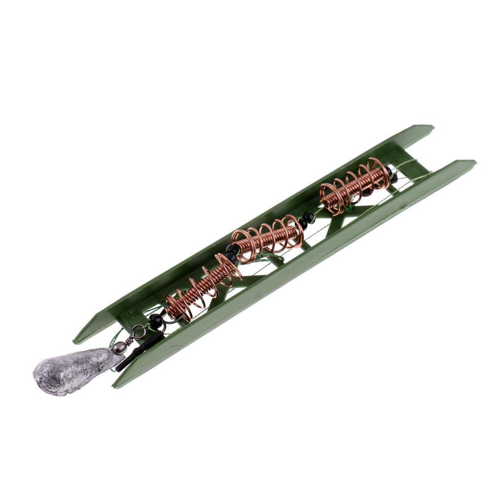 Karpfenangeln Feeder Käfig mit 3 Linie Haken Haar Rig Set grobe Angeln