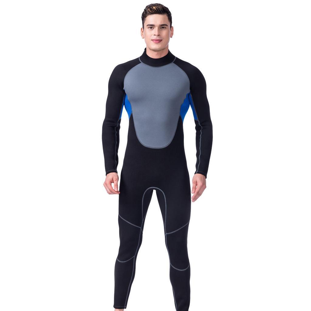 3mm Neoprene Men Scuba Diving Suits Full Body Long Sleeve Surf Wetsuit Swimsuit