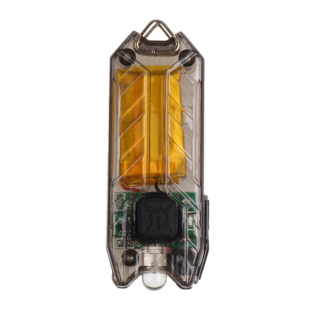 2 Modes USB DEL Mini Lampe de poche lumière lampe Keychain Anneau Haute Qualité