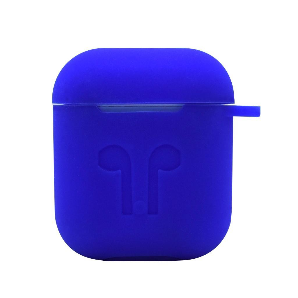 MagiDeal Silicone Protective Case Cover Skin with Keychain for Apple AirPods