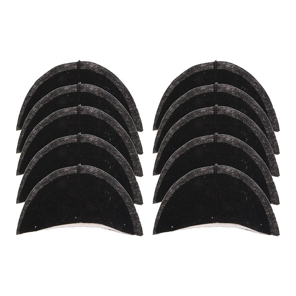 5 Paar Schwamm Anzüge Schulterpolster für Anzüge Jacken Mäntel Schwarz