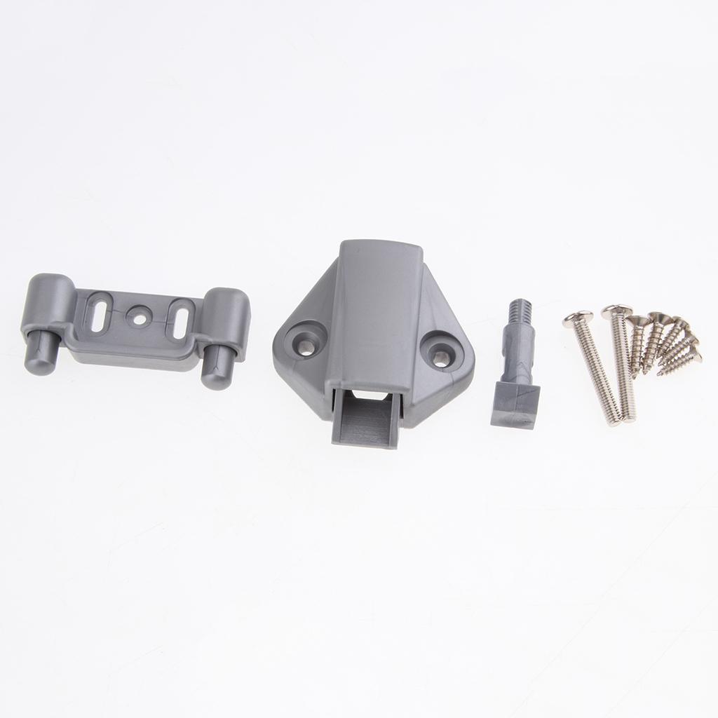 Zinc Alloy Push Button Pull Handle Latch Lock Knob for Door Cabinet RV Yacht