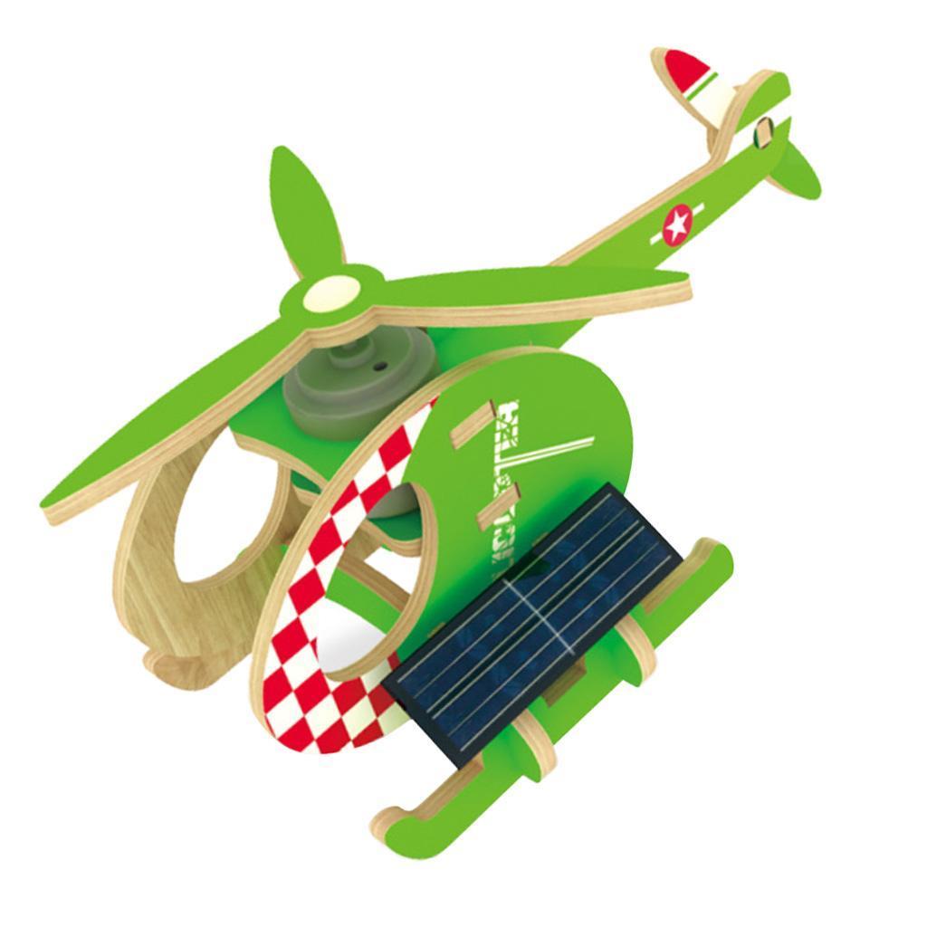 Solarbetrieben Holzflugzeug Bastelset für Kinder