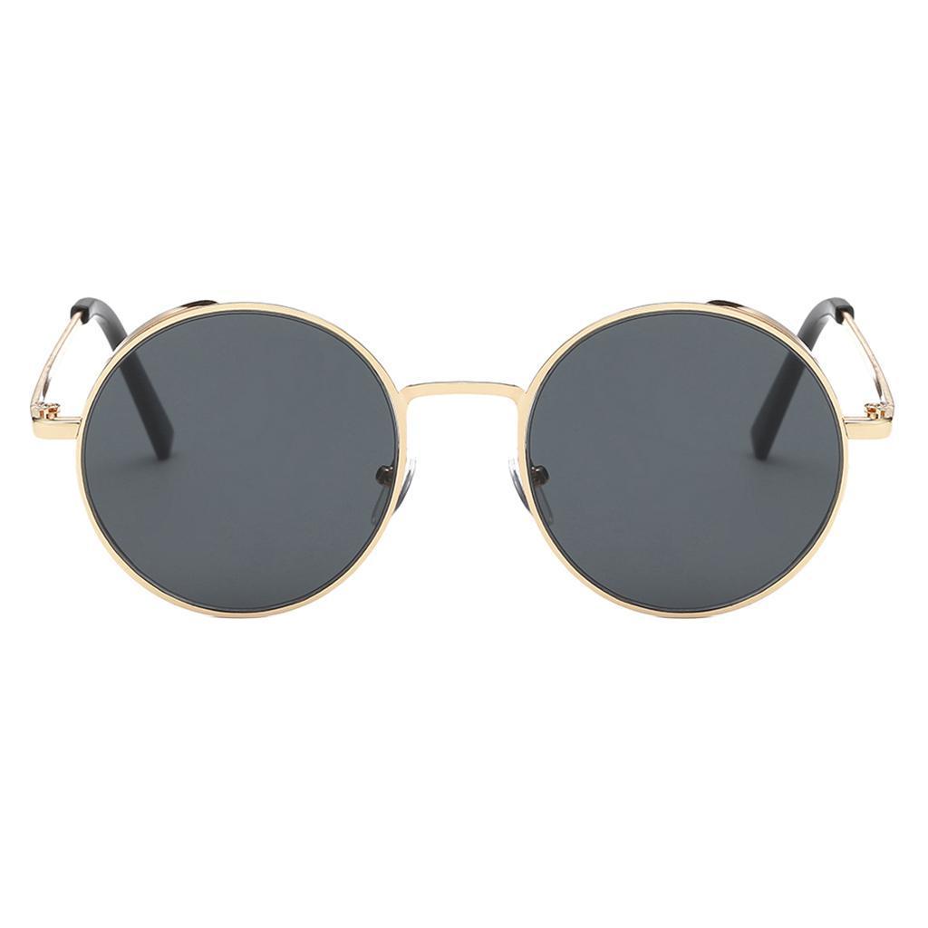 Herren Damen Steampunk Retro Vintage Runde Sonnenbrille Brille Brille UV400