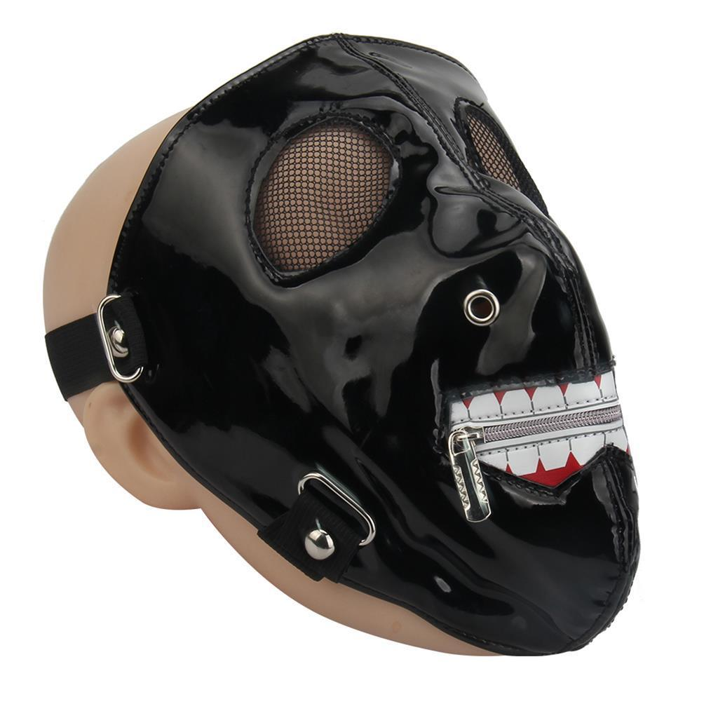 Steampunk Half Face PU Leather Mask Rivets Musk Motorcycle Rider Biker Accessory