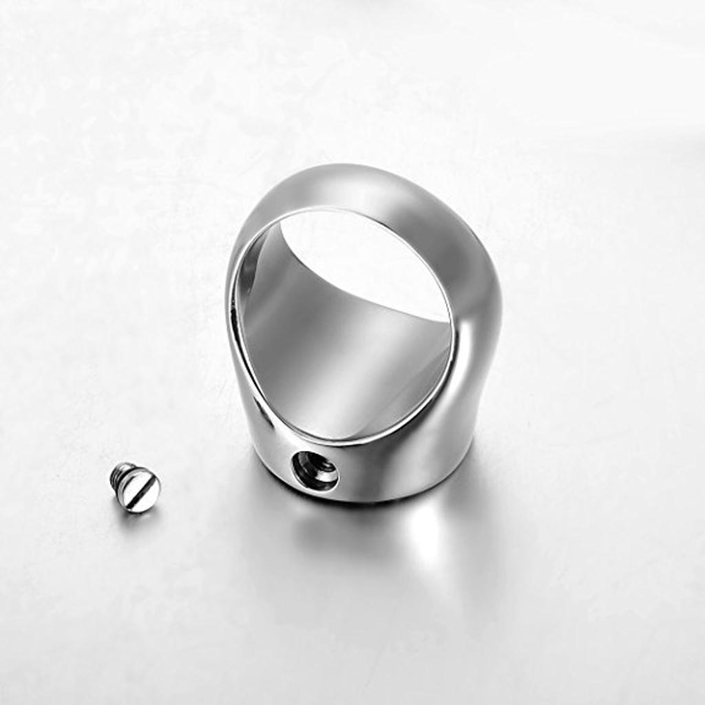Rond Arbre de Vie Motif En Acier Inoxydable Cremation Bijoux Hommes Ring Band