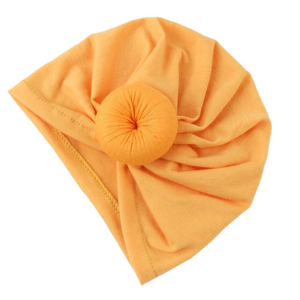 Trendy Turban Cotton Beanie Hat Winter Cap for Newborn Toddlers Babies
