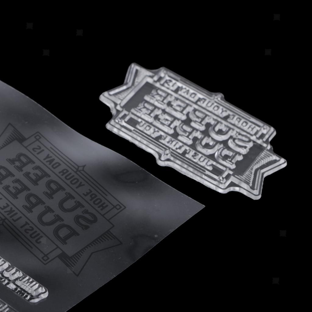 Silikonstempel Stamps Transparent Stempel Scrapbooking-Werkzeug