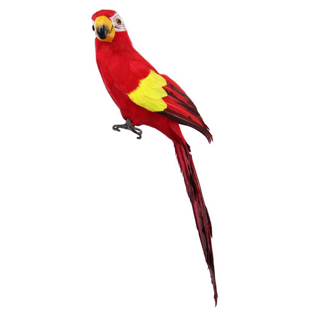 1x Realistische Papagei Vogel Künstliche Feder Outdoor Garden Tree Decor 45