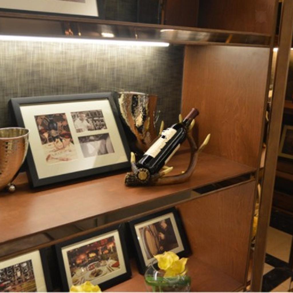 Resin Deer Antler Red Wine Bottle Holder Table Rack Ornament Home Bar Decor