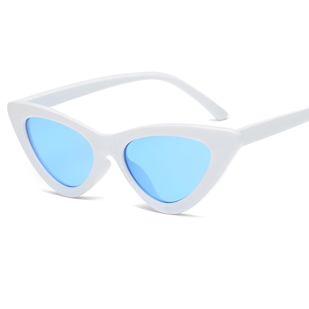 Frauen Mode Retro kleine Brille Objektiv Sonnenbrillen Kunststoffrahmen Gläser