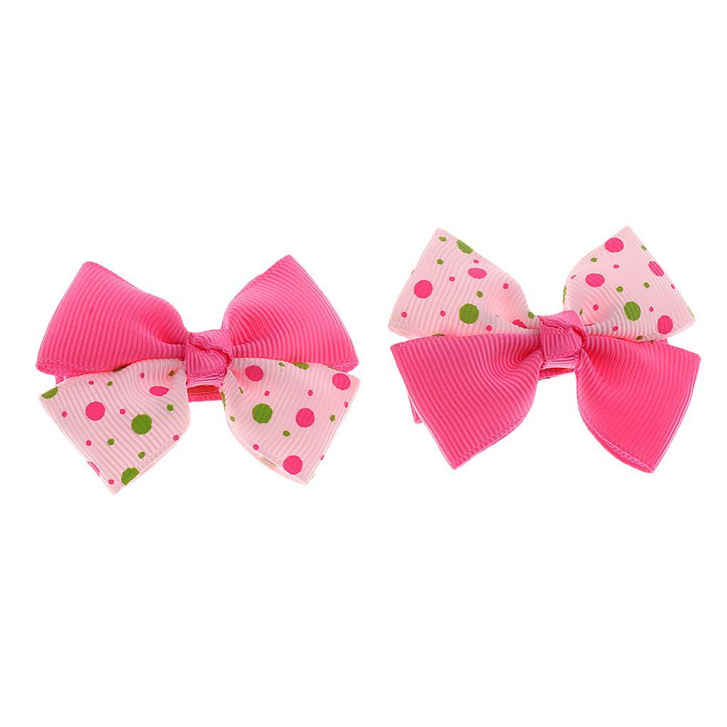Handmade Hair Bow Clip Alligator Clips Hair Bobbles For Baby Toddler Kids Girls