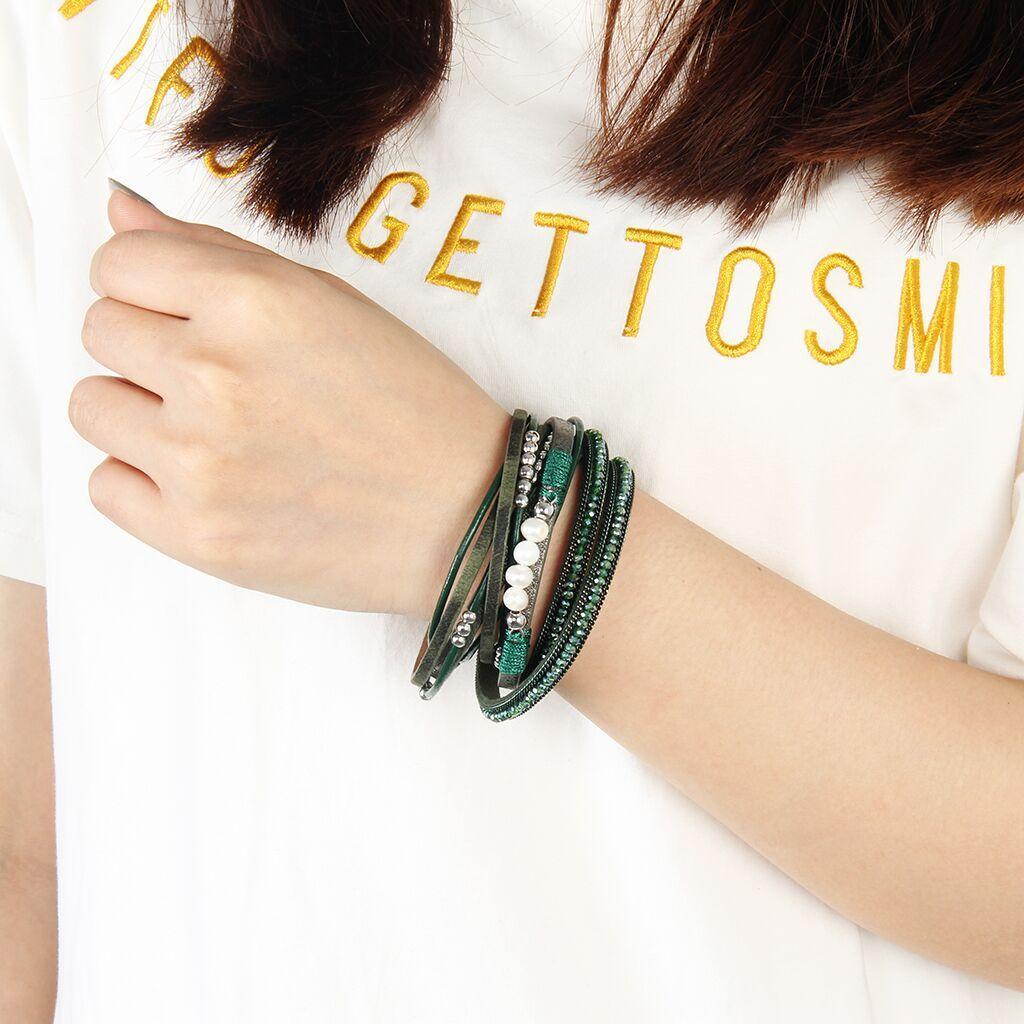 Perlen Armband Mehrschichtig Armband Armschmuck Geschenk für Geburtstage,