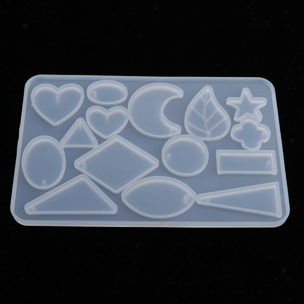 Handmade Resin Crystal Silicone Molds Pendant Charms DIY Jewelry Making Mold