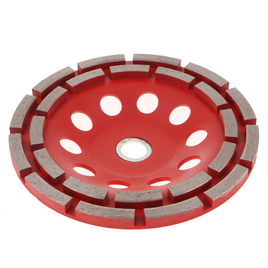 Double Row Diamond Grinding Cup Wheel Marble Concrete Sanding Disc 3 Sizes