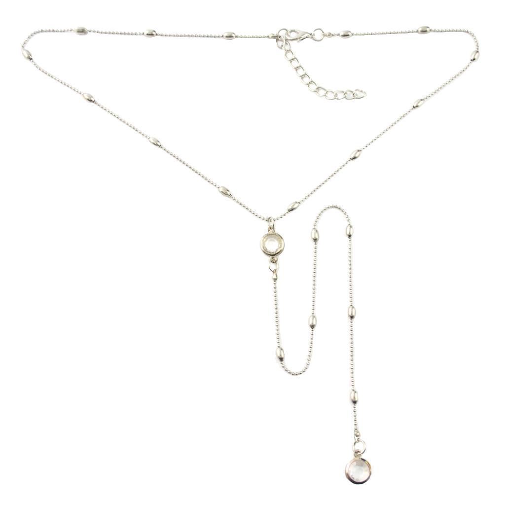 Kristall Lariat Y Form Halskette Frauen Elegante Halskette Kette Einstellbar