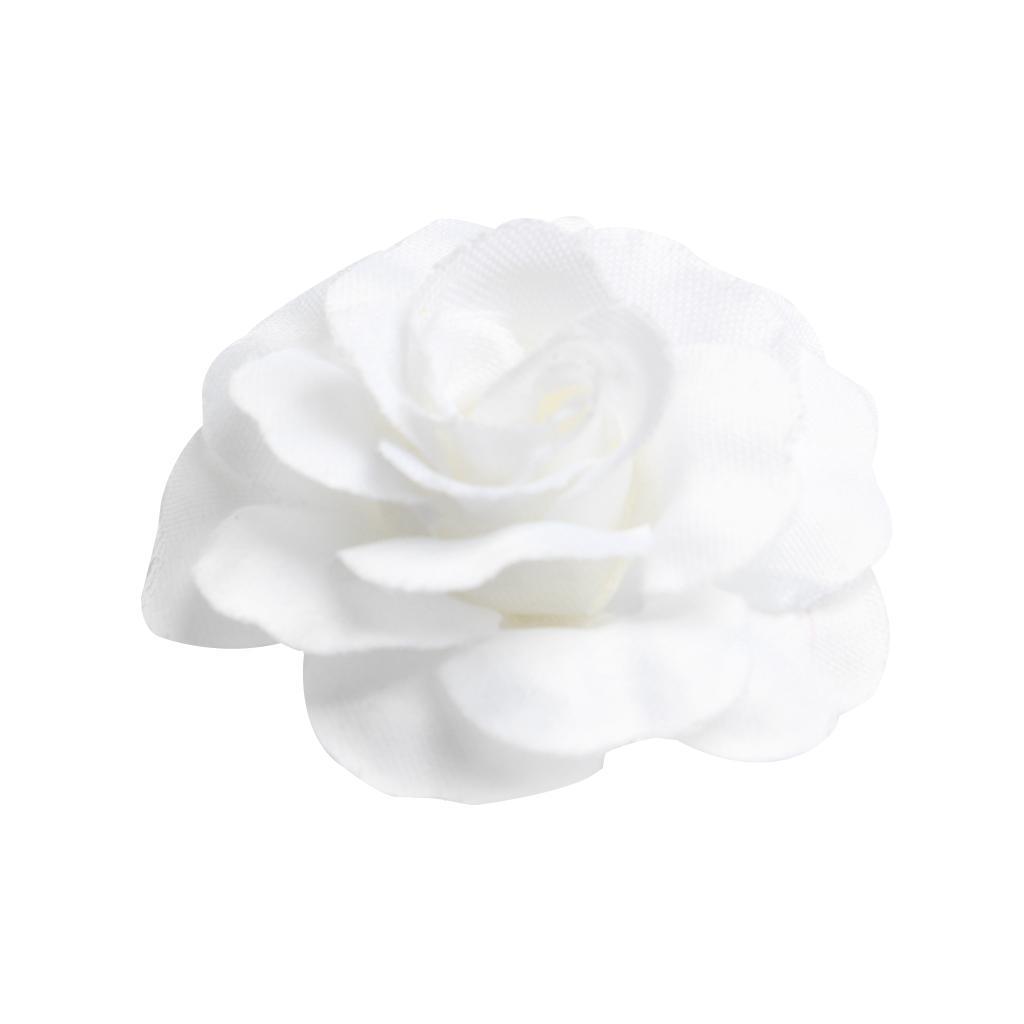 10pcs Artificial Silk Rose Flower Heads for DIY Wedding Bouquet Garland 5cm