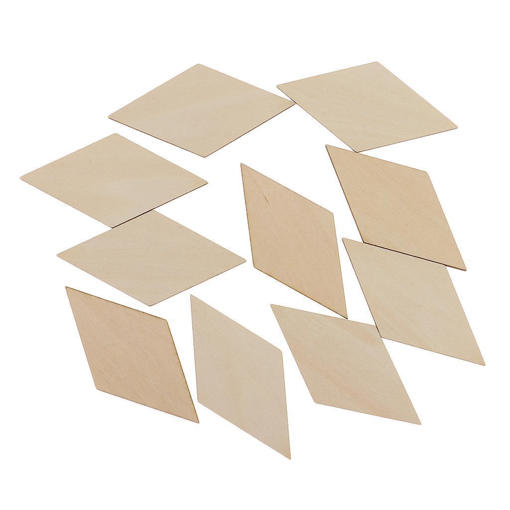 10-100er Pack Karo Holz Scheiben Verzierung Naturholzscheiben für Hochzeit