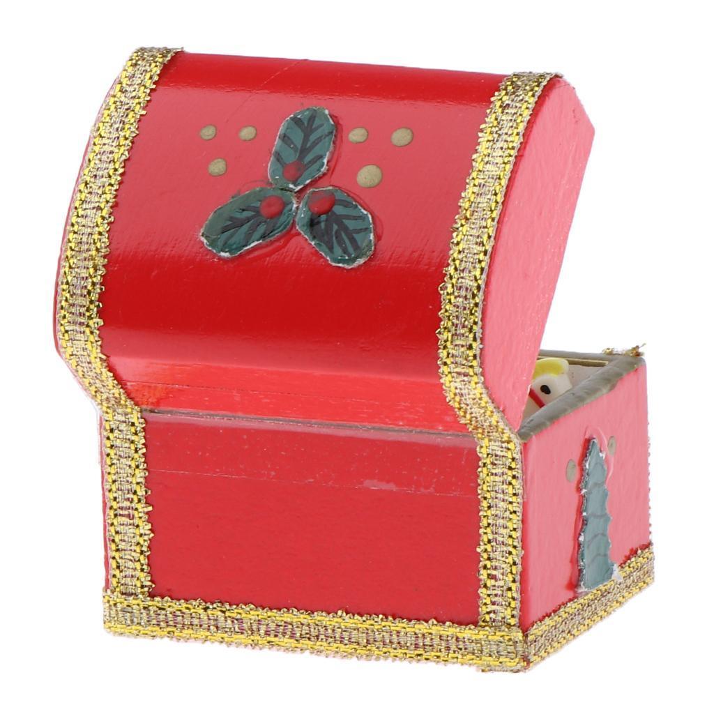 1:12 Skala Weihnachtsdeko Geschenkbox Möbel Zubehör für Puppenhaus