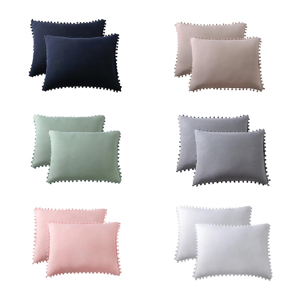 2x Stretch Rectangle Decorative Throw Pillow Cover Couch Home Decor 20 X26