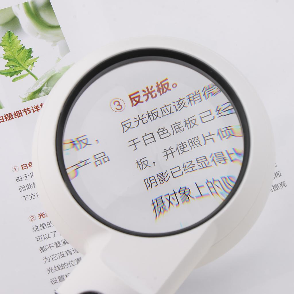 Small Large Lens Handheld LED Lighted Magnifying Glass Jewelry Loupe Reading