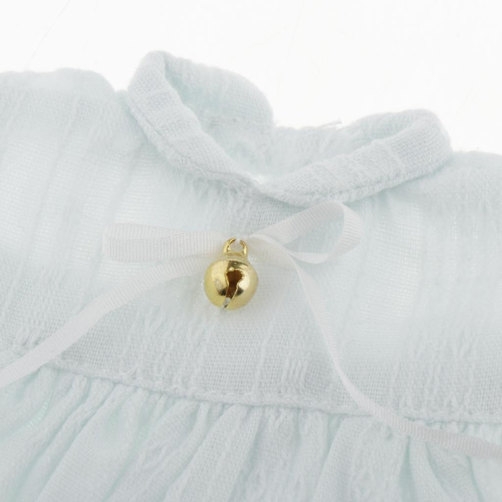 1//6 Cute Peter Pan Collar Mini Skirt Summer Clothes for Blythe Doll DIY Kits