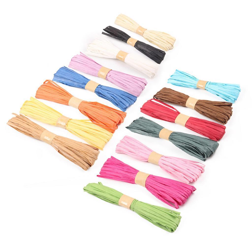20 Meter 6 Roll of Kraft Raffia Ribbon String Packing Paper Twine DIY Craft