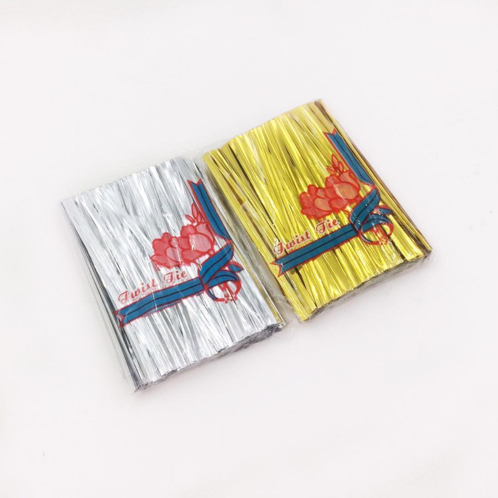 1600 Stück Silber Gold Kraftpapier Metallisch Metalldraht Twist Ties