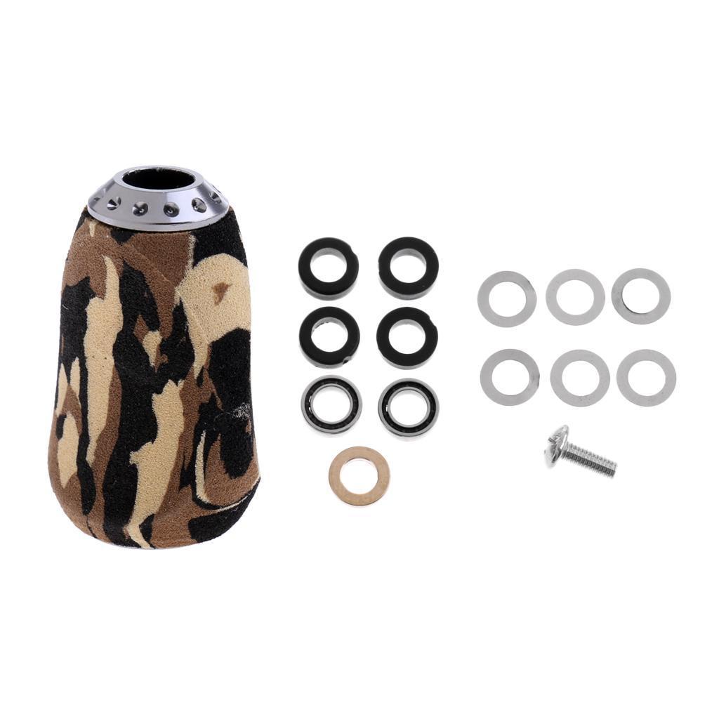 Fishing Reel Handle EVA Knob for Spinning Baitcasting Reel with Mounting Kit