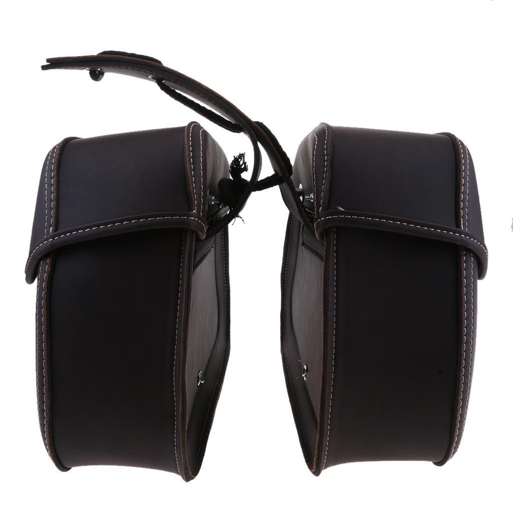 1 Pair Motorcycle Saddle Bag Bike Side Storage Fork Tool Pouch for