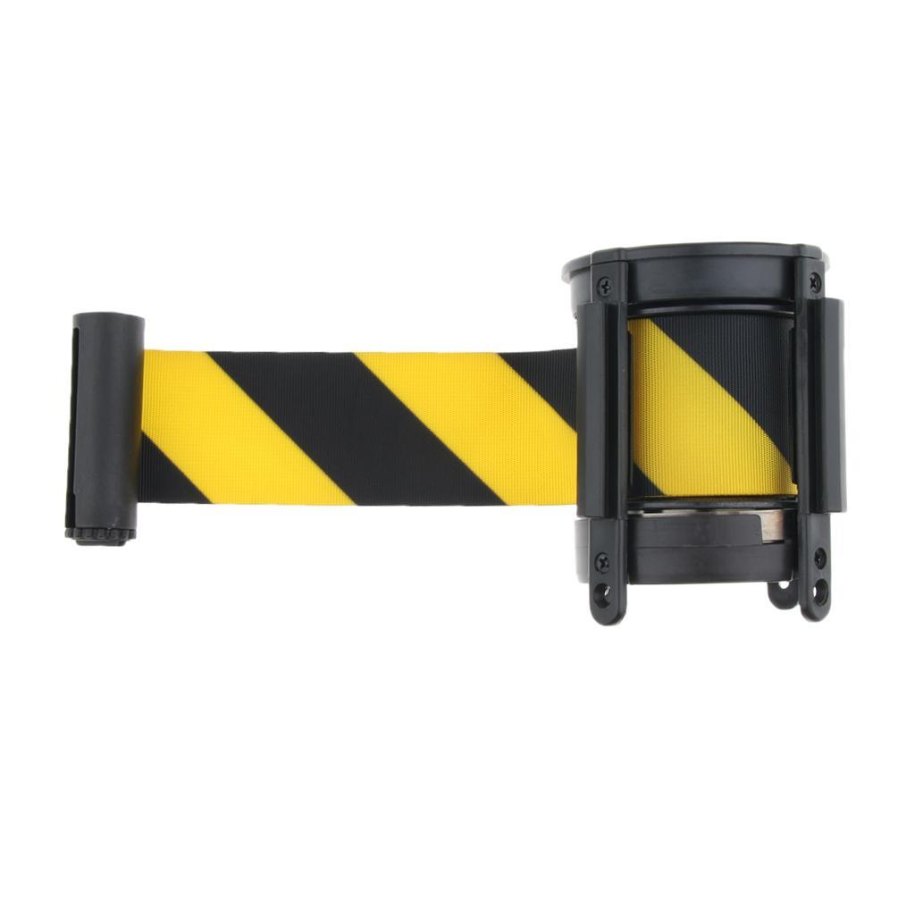 Multi Retractable Queue Crowd Barriers Belt Crowd Control Wall Mount Type 5m