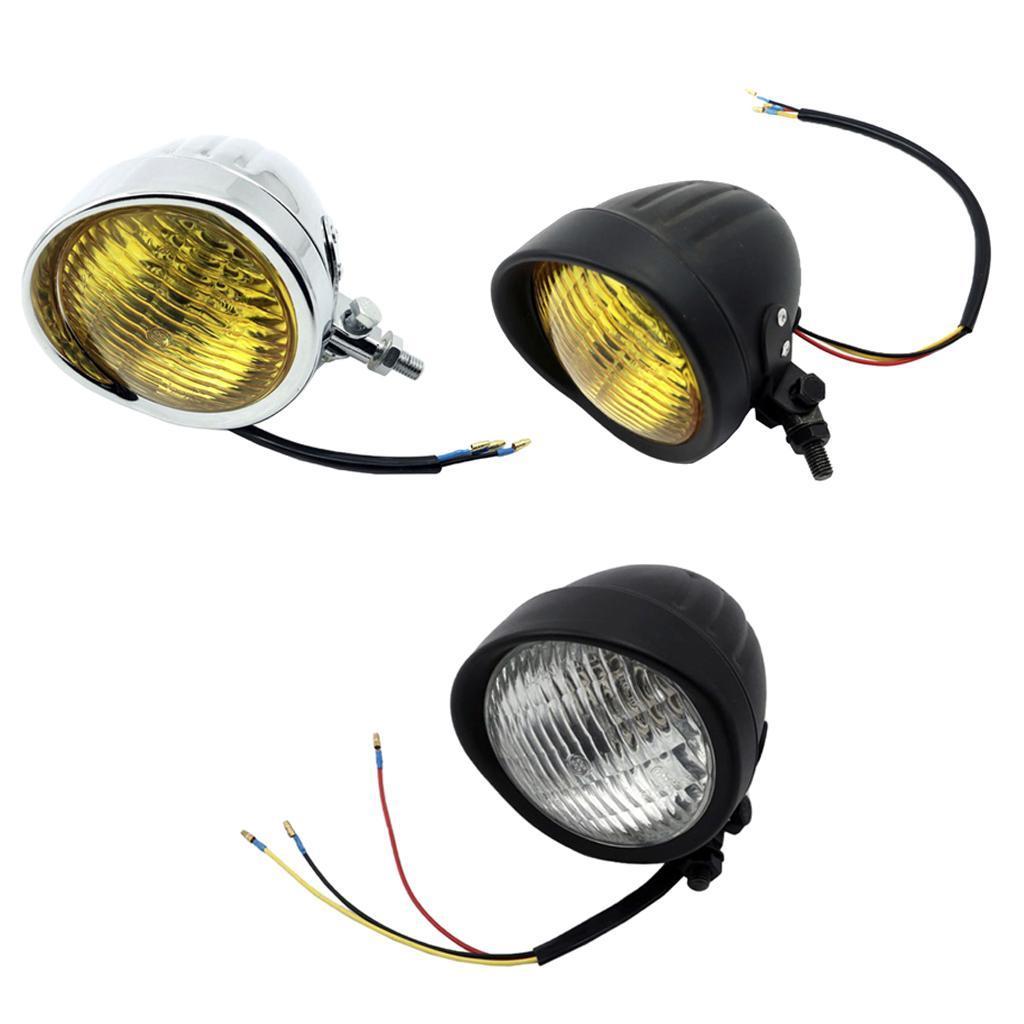 Motorcycle LED Headlight Fog Signal Light For Harley Cruiser Cafe Racer NEW