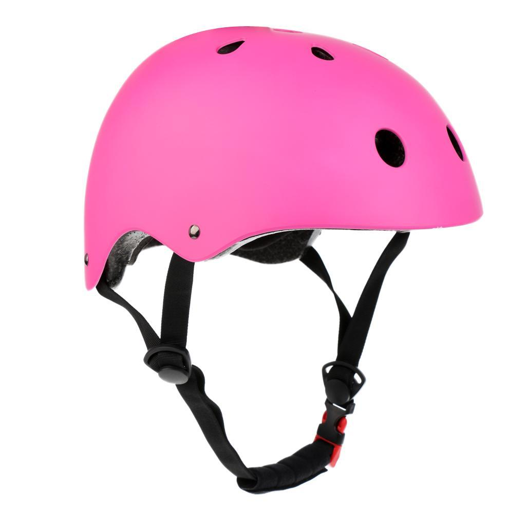 Skaterhelm Fahrradhelm Inlinerhelm Skihelm Inliner Skate Helm Schwarz//Rosa//Blau